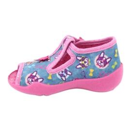 Befado růžová dětská obuv 213P113 modrý růžový 2