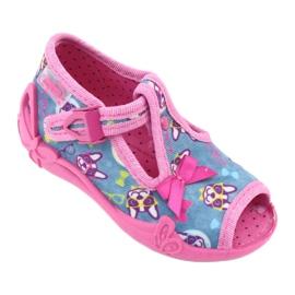 Befado růžová dětská obuv 213P113 modrý růžový 1