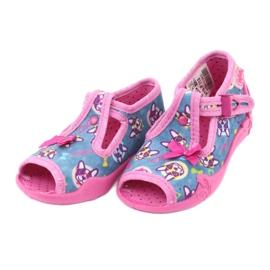 Befado růžová dětská obuv 213P113 modrý růžový 3