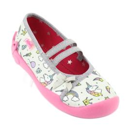 Dětská obuv Befado 116X266 růžový šedá 1