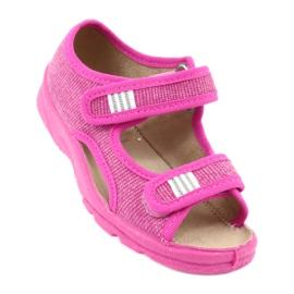 Befado dětské boty 113X009 růžový 1