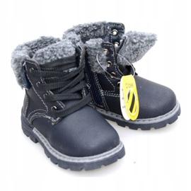 Dětské černé boty černá 1