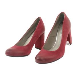 Klasické dámské boty Edeo 2119 burgundské vícebarevný 2