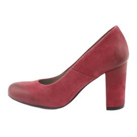 Klasické dámské boty Edeo 2119 burgundské vícebarevný 1
