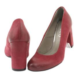 Klasické dámské boty Edeo 2119 burgundské vícebarevný 3