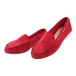 Dámské semišové mokasíny Sergio Leone 722 červené červená 3