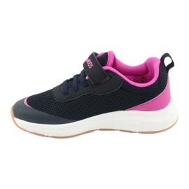 Sportovní obuv KangaROOS se suchým zipem 18507 námořnická / růžová 2