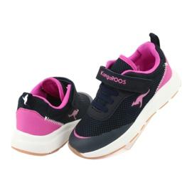 Sportovní obuv KangaROOS se suchým zipem 18507 námořnická / růžová 4
