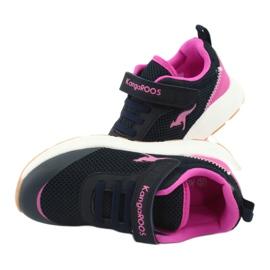 Sportovní obuv KangaROOS se suchým zipem 18507 námořnická / růžová 6