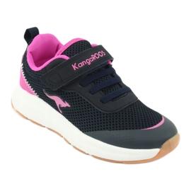 Sportovní obuv KangaROOS se suchým zipem 18507 námořnická / růžová 1