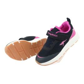 Sportovní obuv KangaROOS se suchým zipem 18507 námořnická / růžová 5
