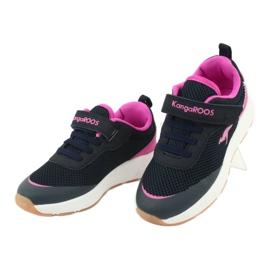 Sportovní obuv KangaROOS se suchým zipem 18507 námořnická / růžová 3