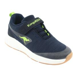 Sportovní obuv KangaROOS se suchým zipem 18508 námořnická / limetková 1