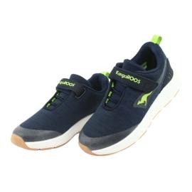 Sportovní obuv KangaROOS se suchým zipem 18508 námořnická / limetková 3