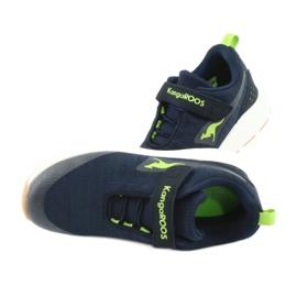 Sportovní obuv KangaROOS se suchým zipem 18507 námořnická / limetková 5