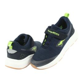 Sportovní obuv KangaROOS se suchým zipem 18507 námořnická / limetková 4