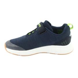 Sportovní obuv KangaROOS se suchým zipem 18507 námořnická / limetková 2