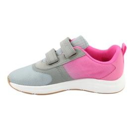 Sportovní obuv KangaROOS se suchým zipem 18506 šedá / neon růžová 2