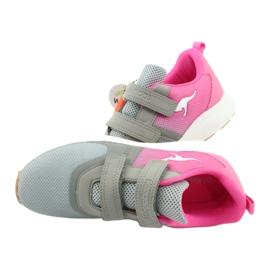 Sportovní obuv KangaROOS se suchým zipem 18506 šedá / neon růžová 6
