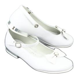 Baleríny White Miko 806 bílá šedá 6