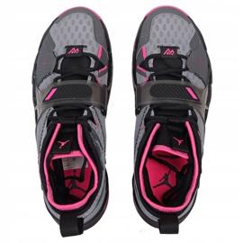 Nike Jordan Proč ne Zero M CD3003 003 boty šedá černá, růžová, šedá / stříbrná 2