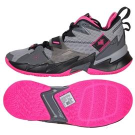 Nike Jordan Proč ne Zero M CD3003 003 boty šedá černá, růžová, šedá / stříbrná 4