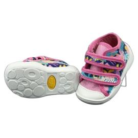 Befado oranžové dětské boty 212P064 3