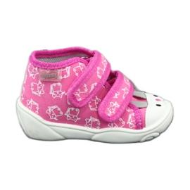Befado oranžové dětské boty 212P066 růžový 1