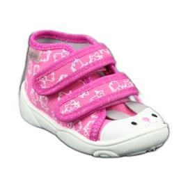 Befado oranžové dětské boty 212P066 růžový 3