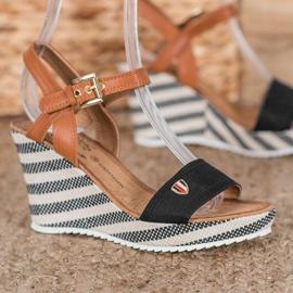 Goodin Módní klínové sandály 1
