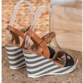 Goodin Módní klínové sandály 2