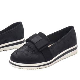 Černé matné boty na klínu YT-8 černá 1