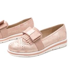 Růžové matné boty na klínu YT-8 růžový 1