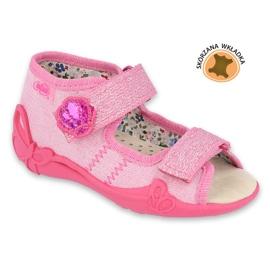 Befado žluté dětské boty 342P011 růžový 1