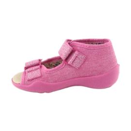 Befado žluté dětské boty 342P011 růžový 4