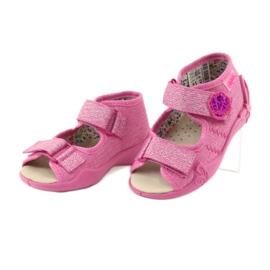 Befado žluté dětské boty 342P011 růžový 5