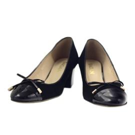 Čerpadla s lukem Sagan 2275 dámské boty černé černá 4