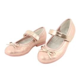 American Club Golden Rose Ballerinas s americkým klubovým lukem GC02 / 20 růžový žlutý 3