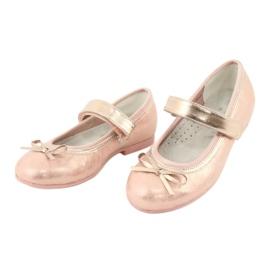American Club Golden Rose Ballerinas s americkým klubovým lukem GC03 / 20 růžový žlutý 3
