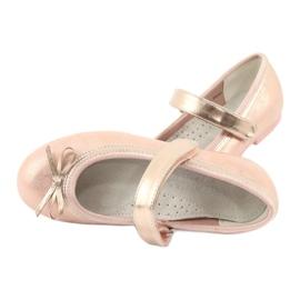 American Club Golden Rose Ballerinas s americkým klubovým lukem GC03 / 20 růžový žlutý 5