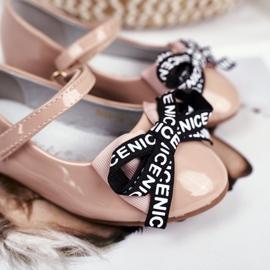 S.Barski Barové béžové dětské baletky Mindi Velcro béžový 4