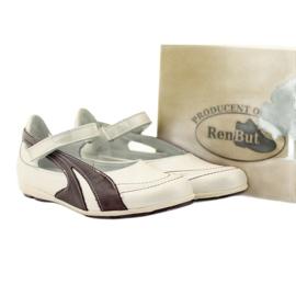 Ren But Kožené baleríny Ren-But v prodeji bílá vícebarevný 5