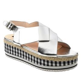 Sandály na platformě 1507-40 šedá 1