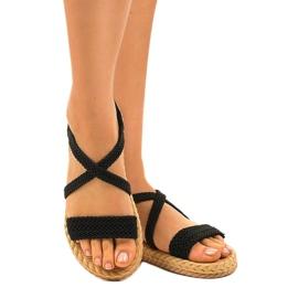Dámské sandály černé C602 černá 1