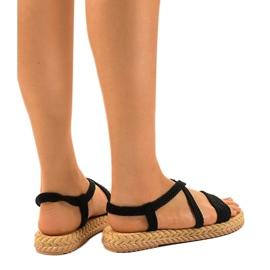 Dámské sandály černé C602 černá 2