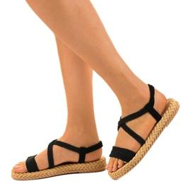 Dámské sandály černé C602 černá 3