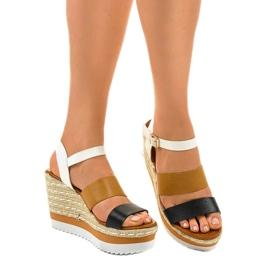 Černé espadrillesové klínové sandály VB76062 1
