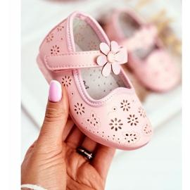 Apawwa Dětské byty Velcro Flower Pink Flored růžový 1