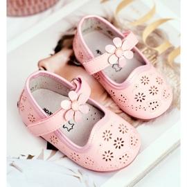 Apawwa Dětské byty Velcro Flower Pink Flored růžový 2