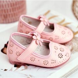 Apawwa Dětské byty Velcro Flower Pink Flored růžový 3